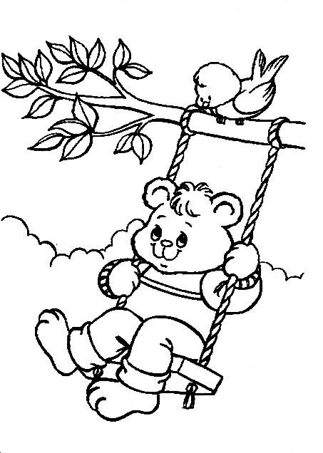 dessin petit ours brun à la ferme