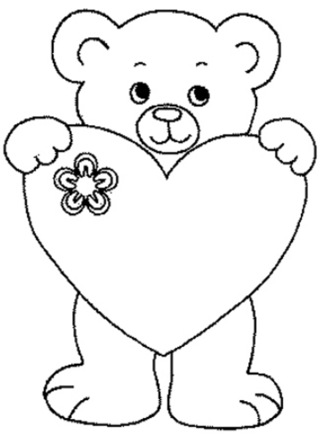 dessin à colorier en ligne ours brun