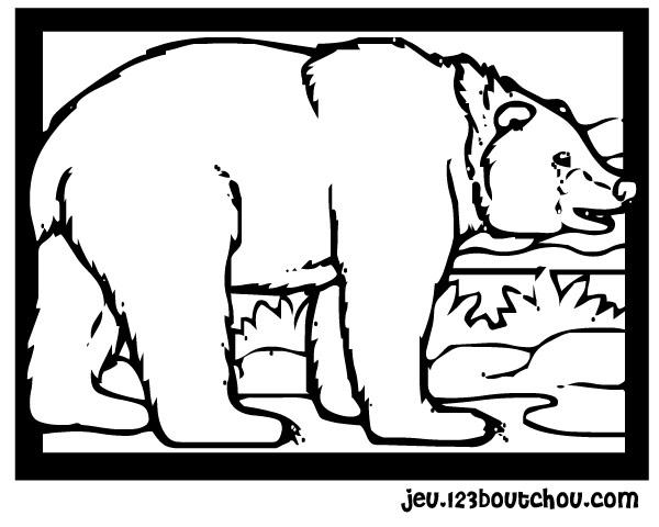 dessin ours à imprimer gratuit