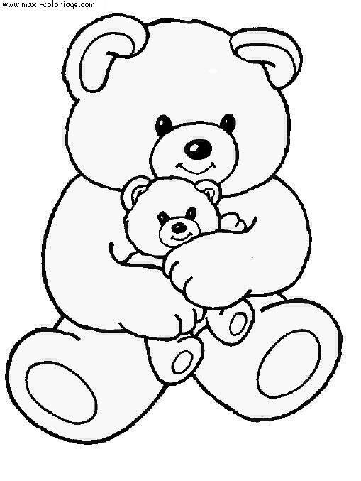 dessin ours de noel