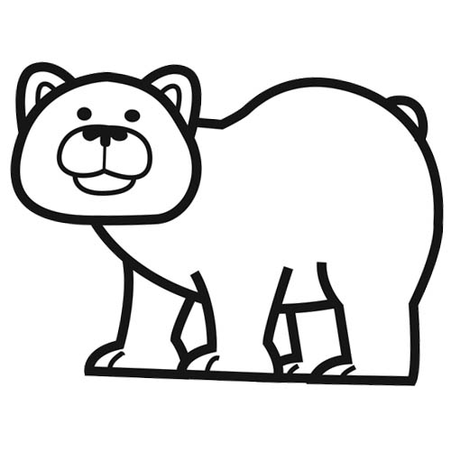 Dessin simple ours - Comment dessiner un ours ...