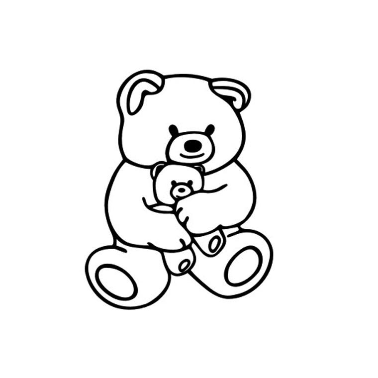 dessin à colorier ours maternelle