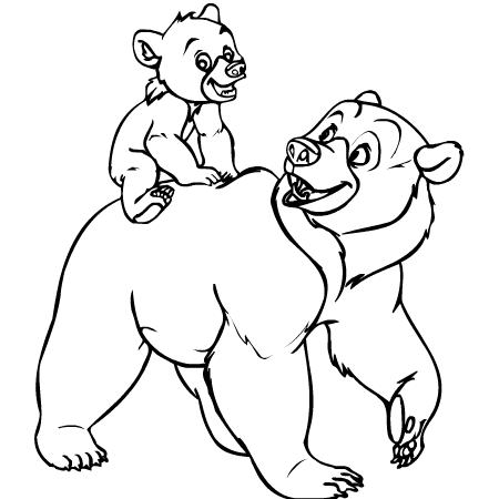 coloriage à dessiner d'ours à imprimer