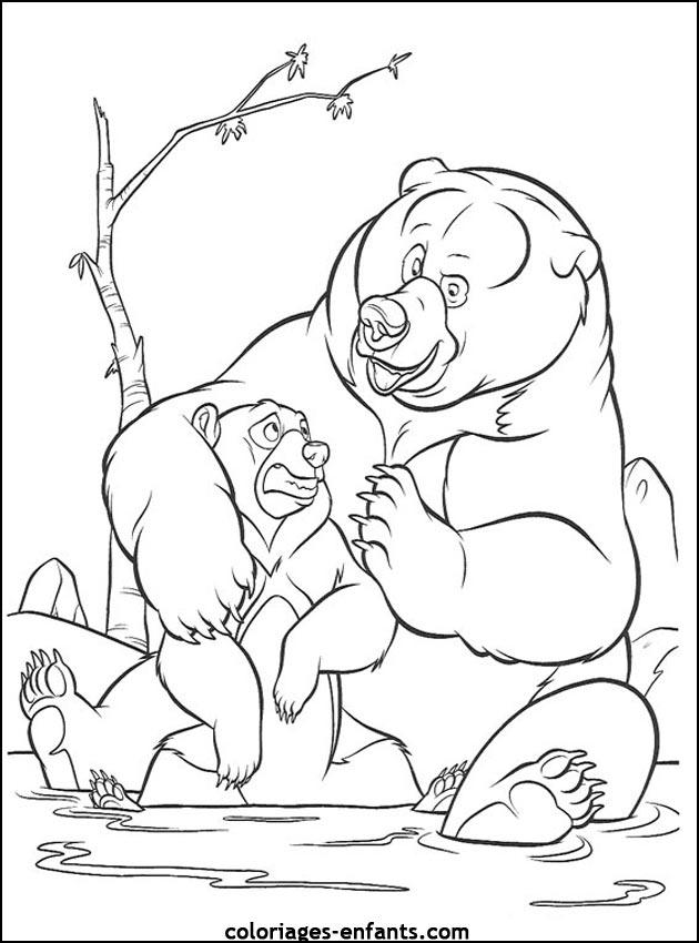 coloriage à dessiner ourson imprimer