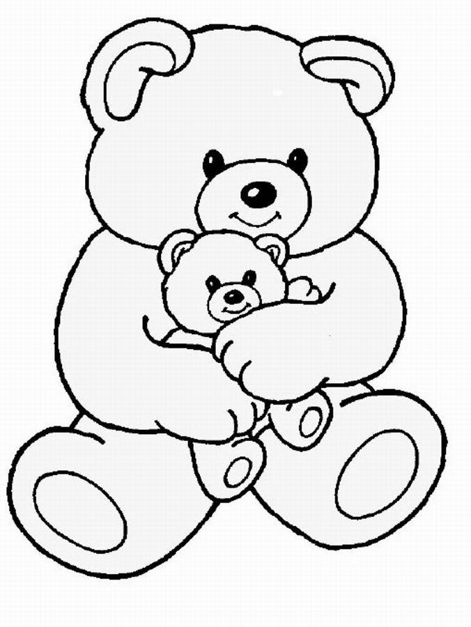 20 dessins de coloriage ourson imprimer - Dessin ourson a imprimer ...