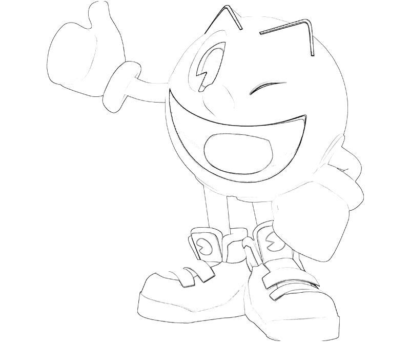 dessin à colorier pacman en ligne