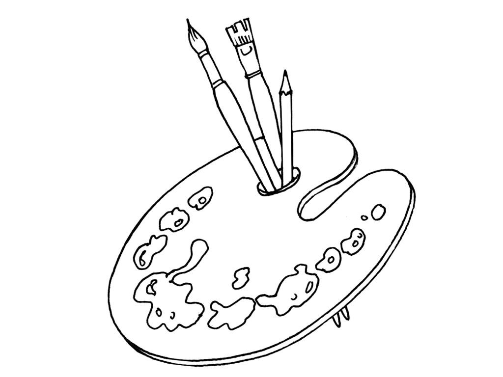 15 dessins de coloriage palette de peintre coloriage - Palette a dessin ...