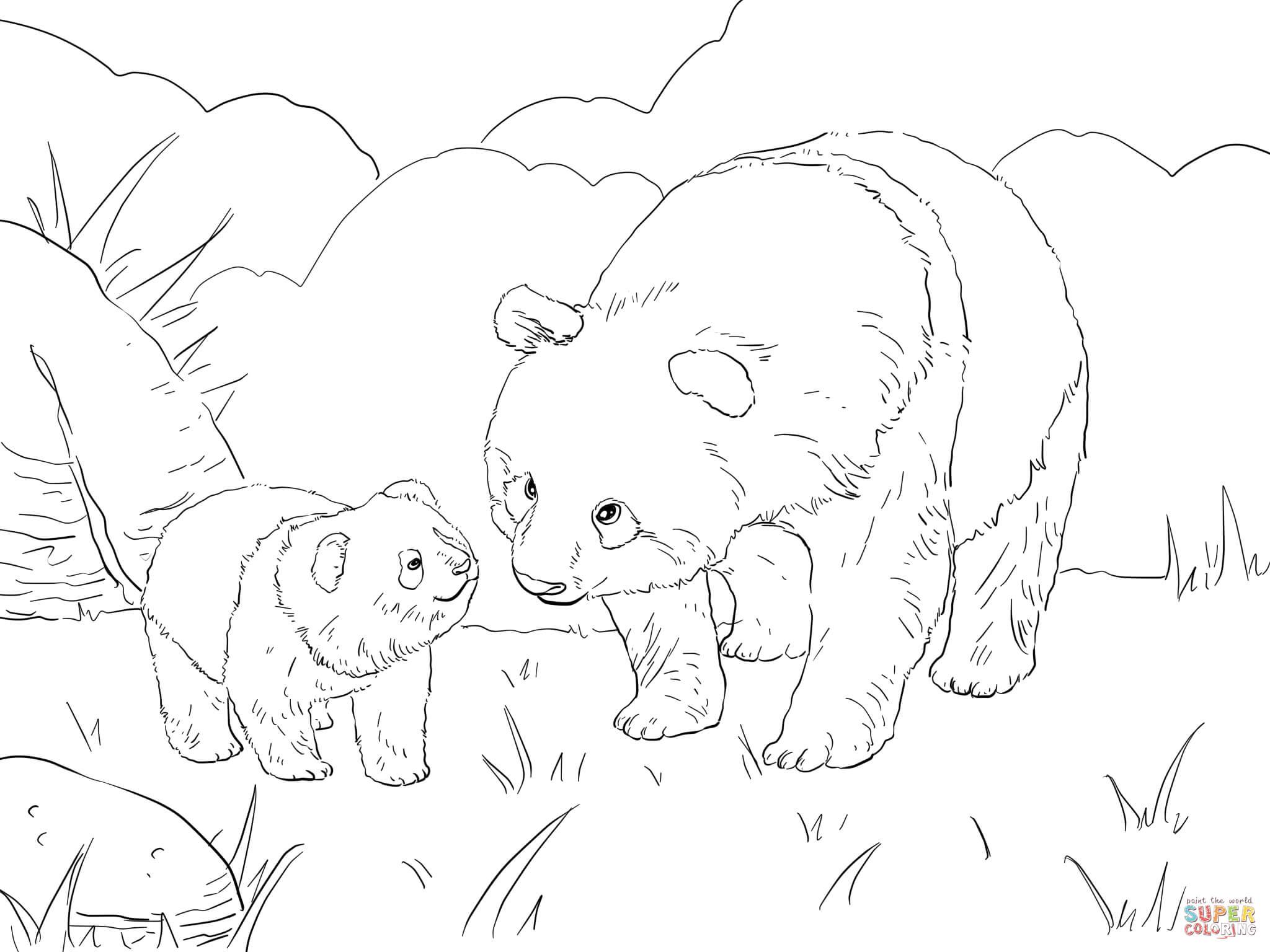 12 dessins de coloriage panda g ant imprimer - Coloriage panda ...