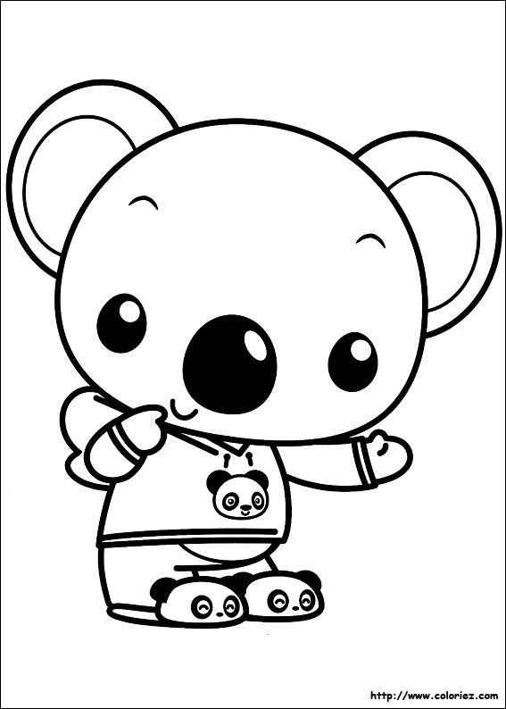 9 dessins de coloriage panda mignon imprimer - Panda coloriage ...