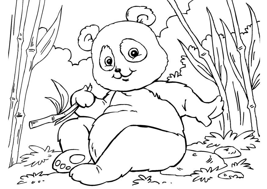colorier panda