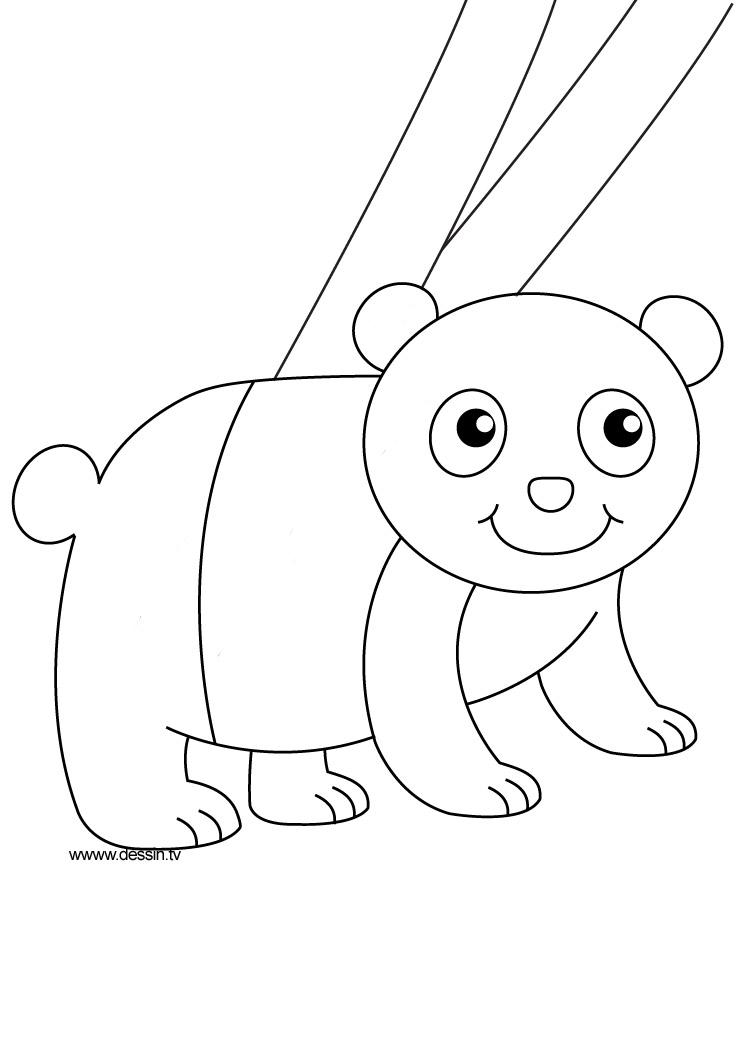 dessin � colorier b�b� panda