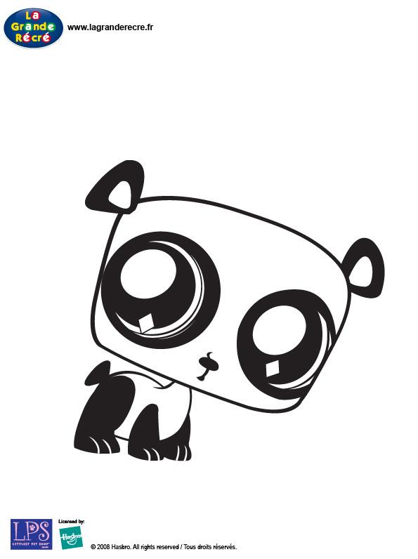 Dessin panda en ligne - Coloriage de petshop a imprimer gratuit ...