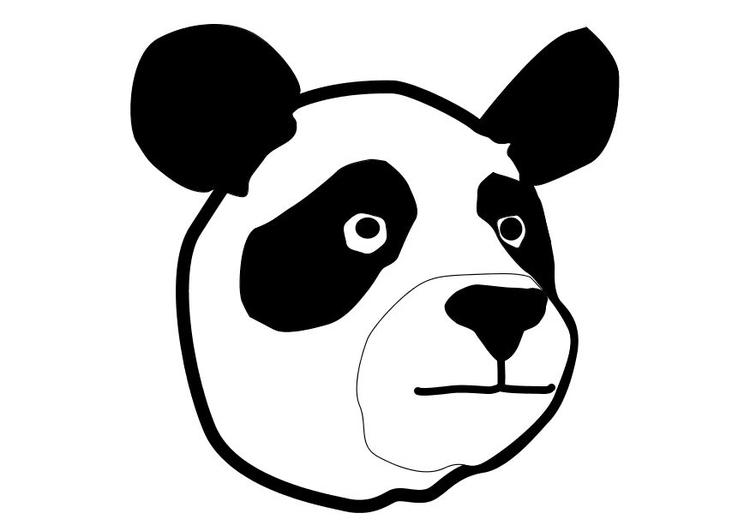 coloriage à dessiner panda roux
