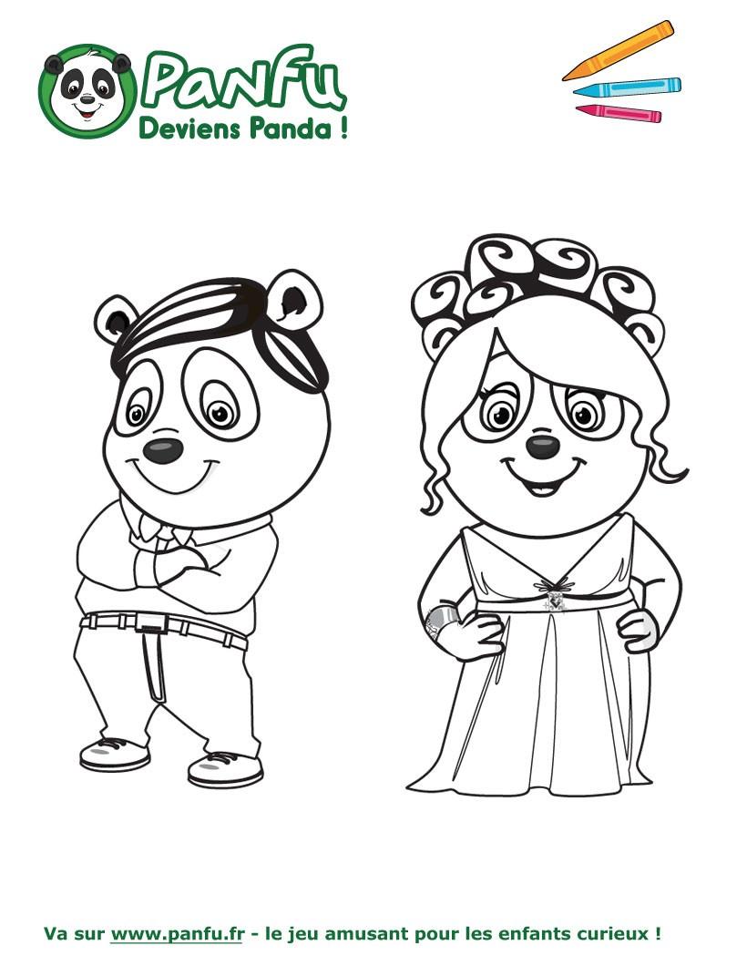 coloriage de bébé panda a imprimer