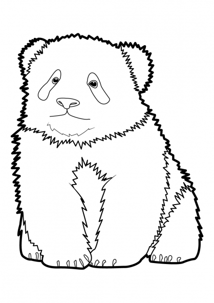 coloriage magique panda