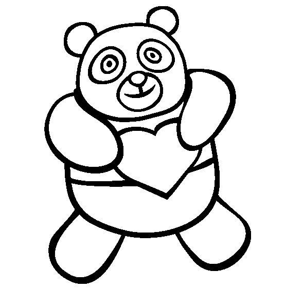 dessin panda bambou
