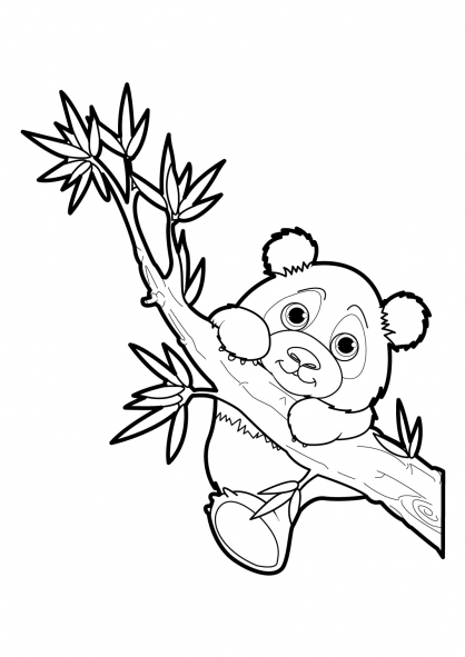 coloriage à dessiner de panda gratuit