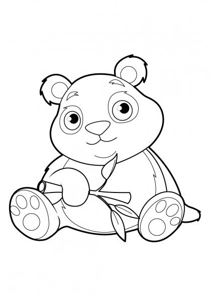 dessin de panda et ses bébés