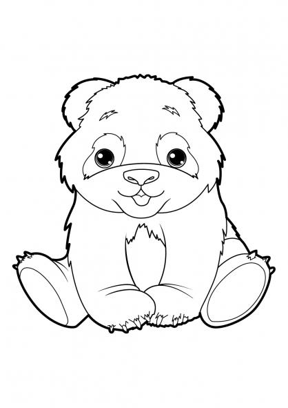 coloriage d'un panda