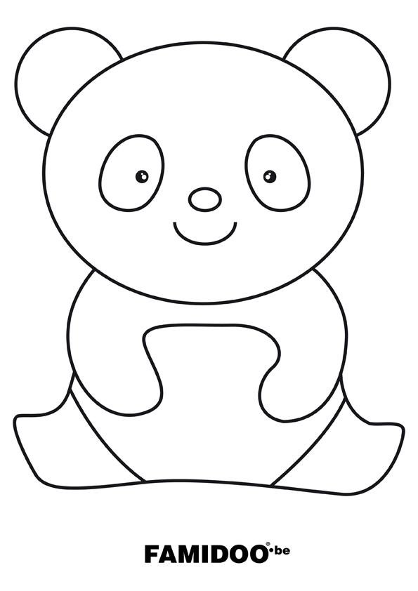 coloriage à dessiner panda gratuit a imprimer