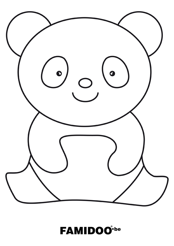Dessin Panda Facile coloriage à dessiner panda gratuit a imprimer