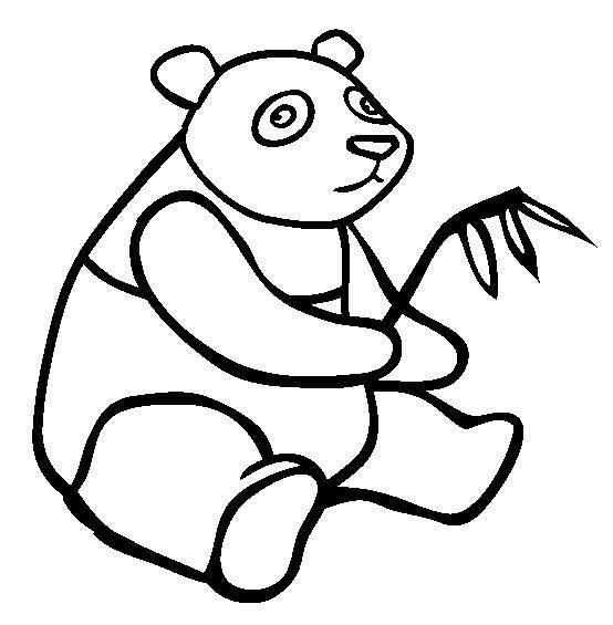 coloriage à dessiner magique panda