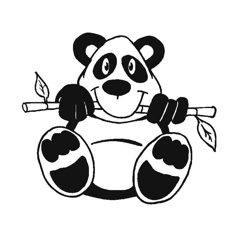 dessin à colorier panda chinois