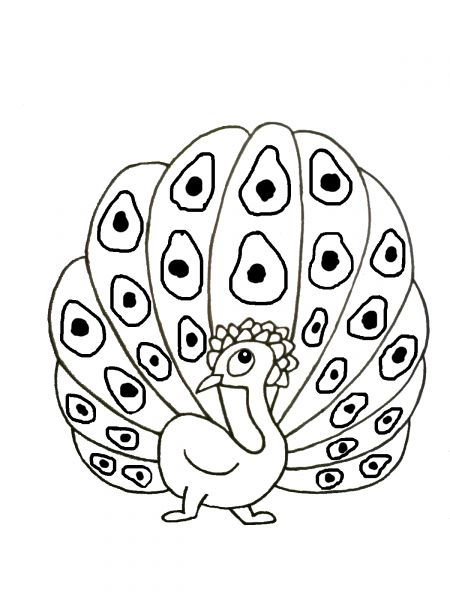 coloriage à dessiner de paon en ligne
