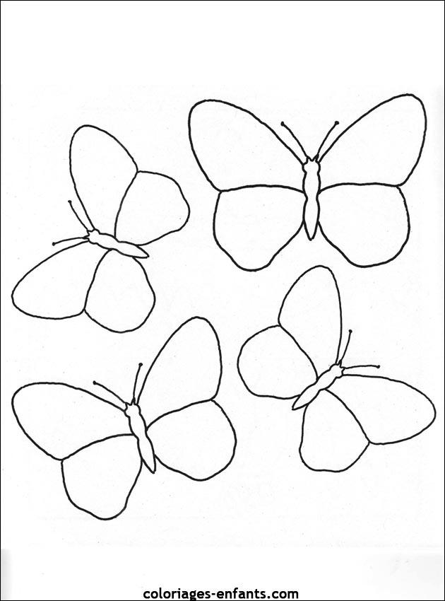 96 dessins de coloriage Papillon Belle Dame à imprimer