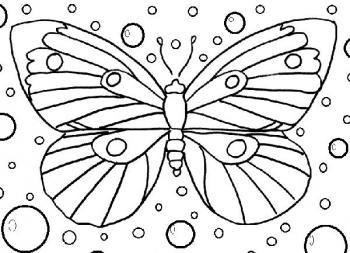 98 dessins de coloriage papillon facile imprimer - Coloriage papillon facile ...