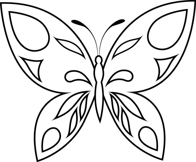 98 dessins de coloriage papillon facile imprimer - Dessin papillon facile ...