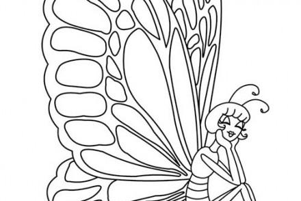 86 dessins de coloriage papillon magique imprimer - Papillon imprimer ...