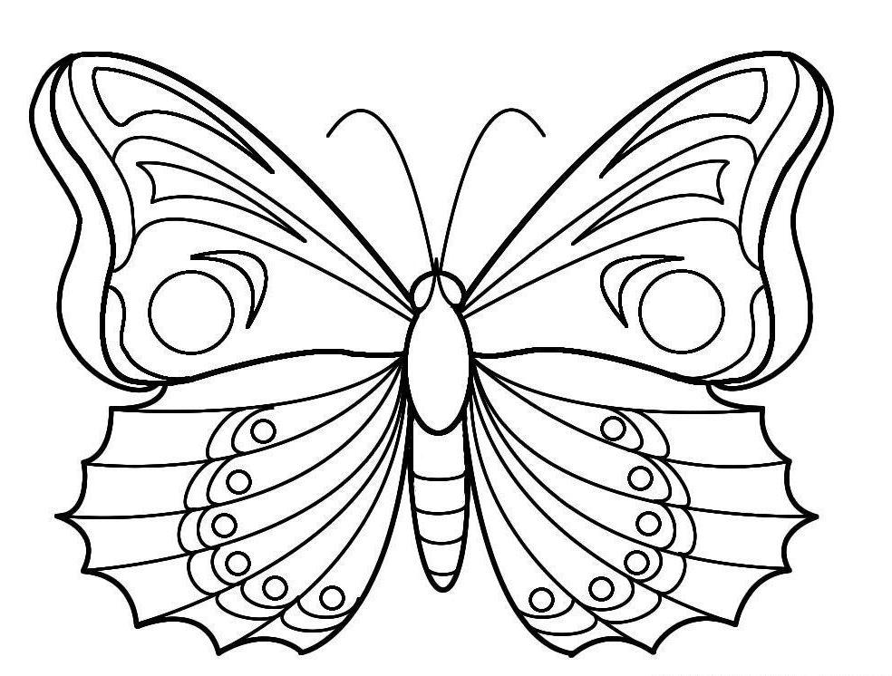 86 dessins de coloriage papillon magique imprimer - Dessin de petit papillon ...
