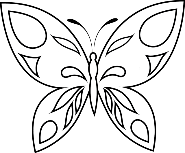 ... dessin Coloriage papillon simple à imprimer. Coloriage ...
