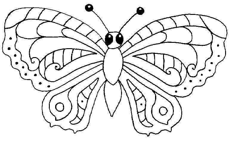 coloriage à dessiner papillon avec coeur