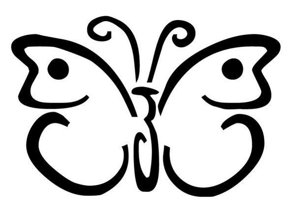 Coloriage papillon imprimer gratuit - Coloriage papillon simple ...