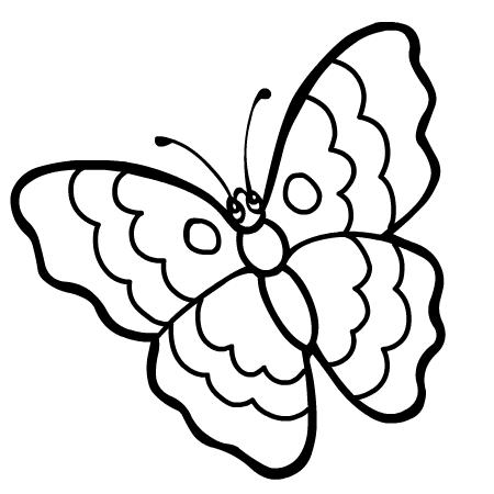 Coloriage Magique Page 2 Coloriage Papillon Simple Marnfozinecom