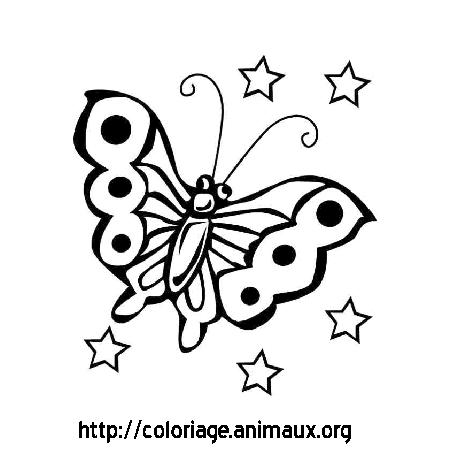 Dessin A Colorier Magique Papillon A Imprimer