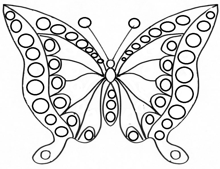 Coloriage papillon ps - Coloriage de papillon ...