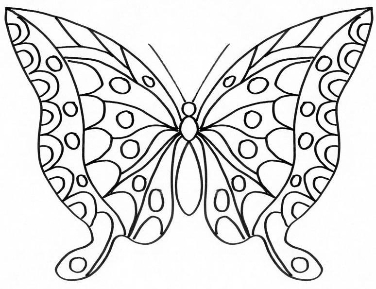 dessin à colorier papillon à imprimer gratuit