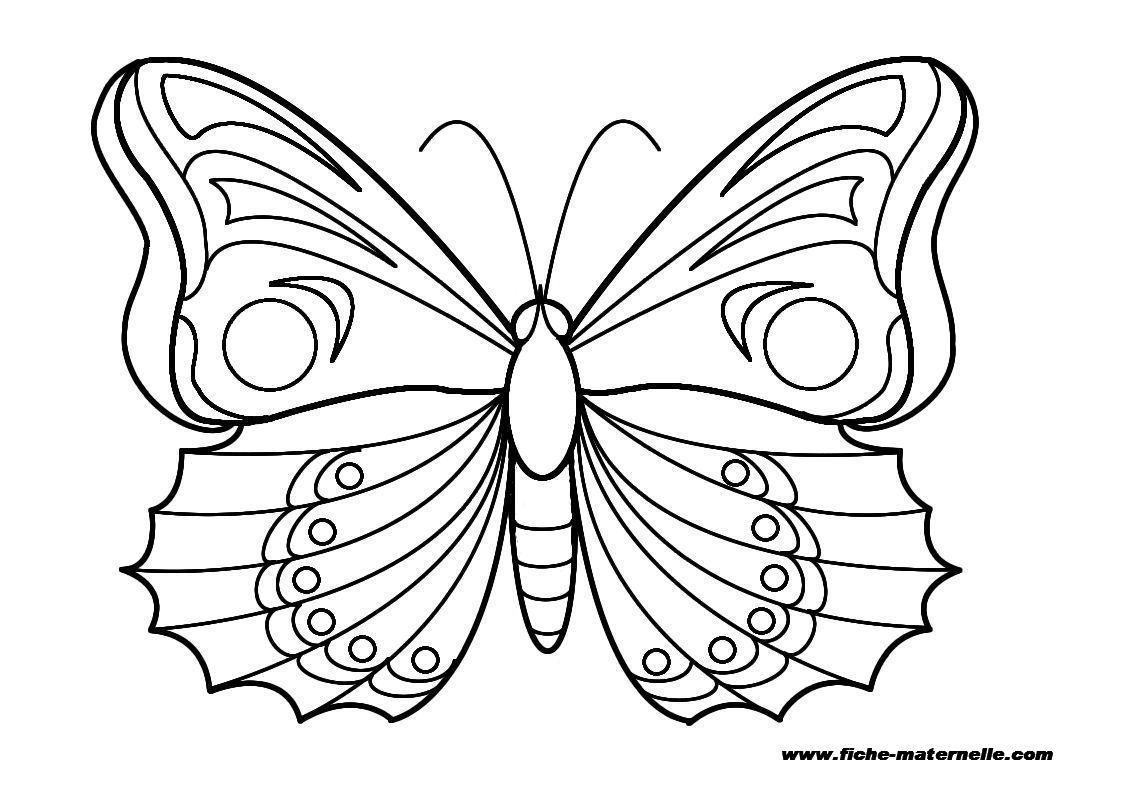 Coloriage Papillon Avec Coeur
