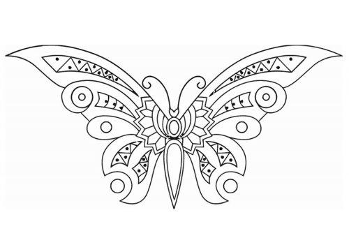 Coloriage Papillon Magique