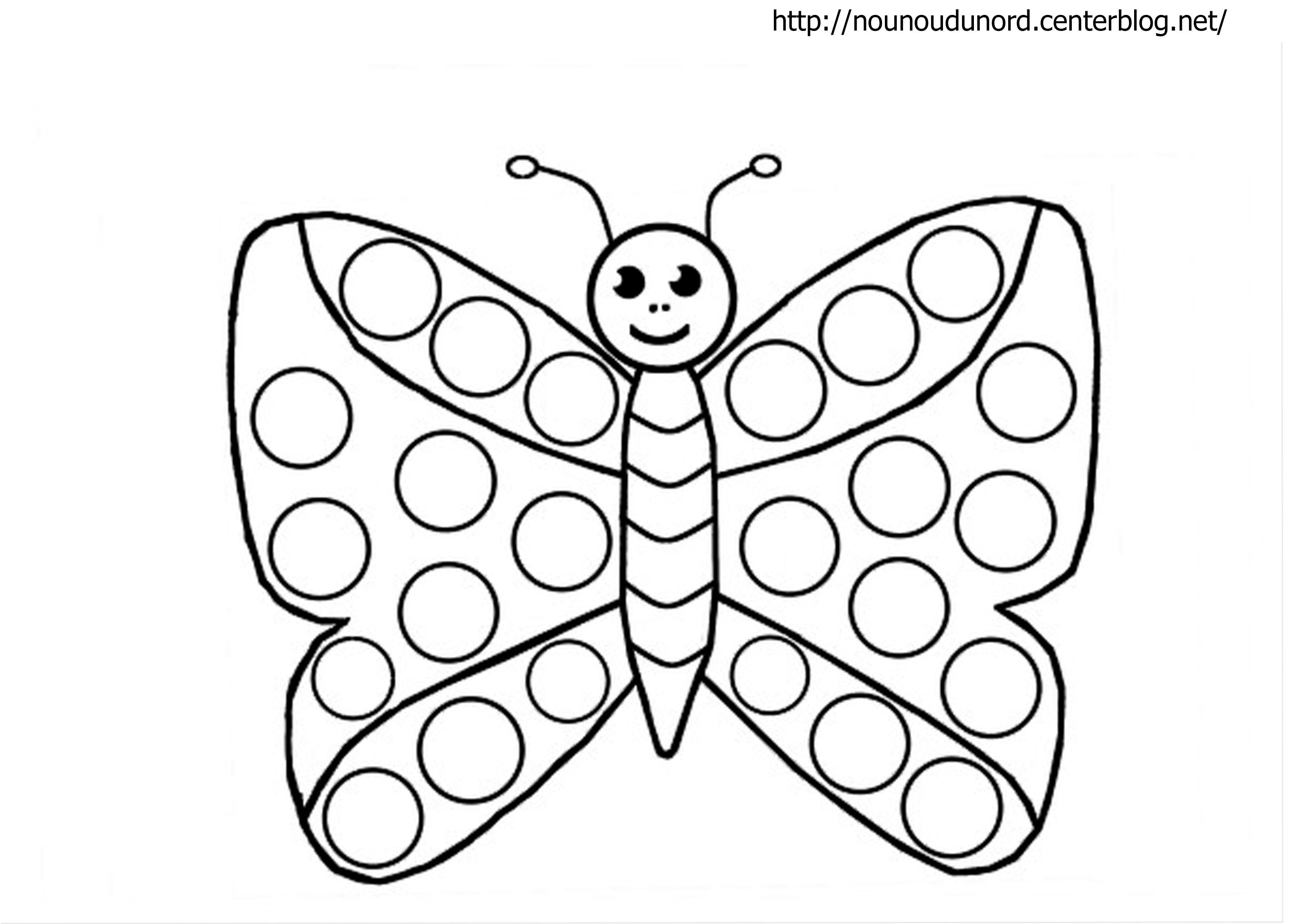 dessin papillon et abeille