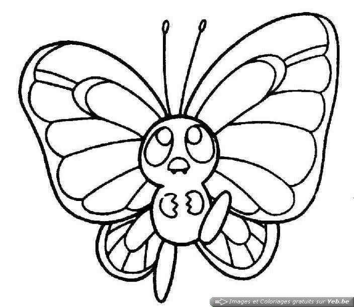 Coloriage ã Dessiner Papillon ã Imprimer Hugo Lescargot