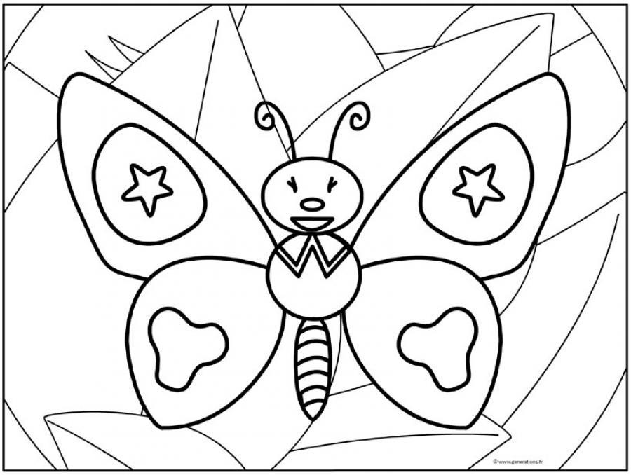 coloriage à dessiner papillon à imprimer gratuit
