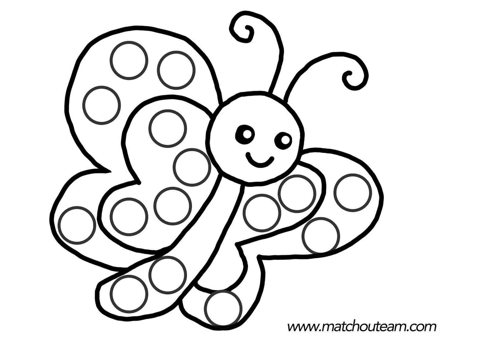 Dessin colorier papillon simple - Buzz a colorier ...