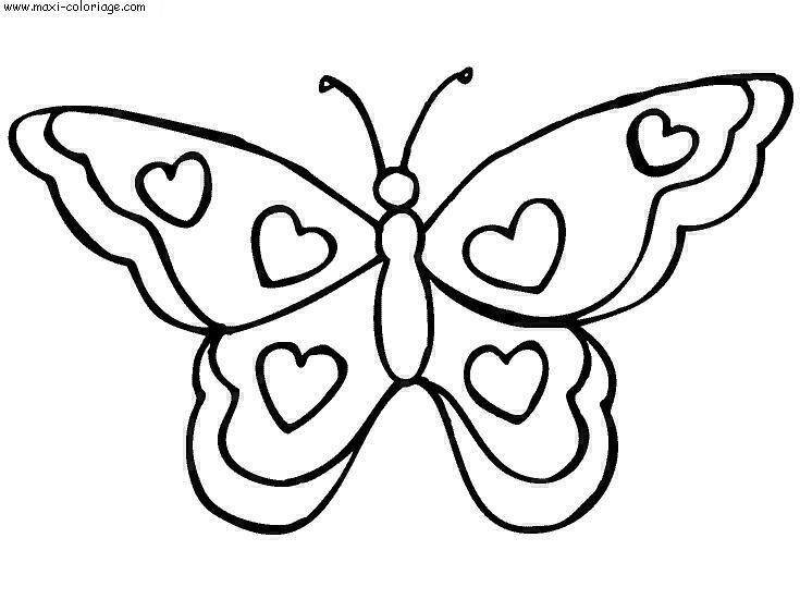 115 dessins de coloriage papillon imprimer - Papillon imprimer ...