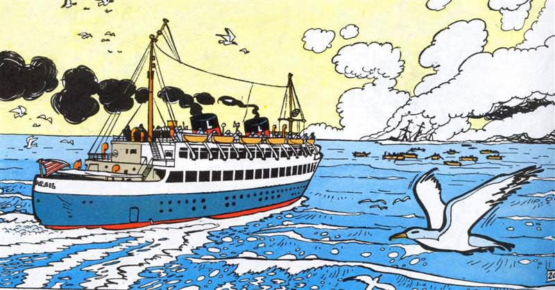 coloriage à dessiner bateau paquebot