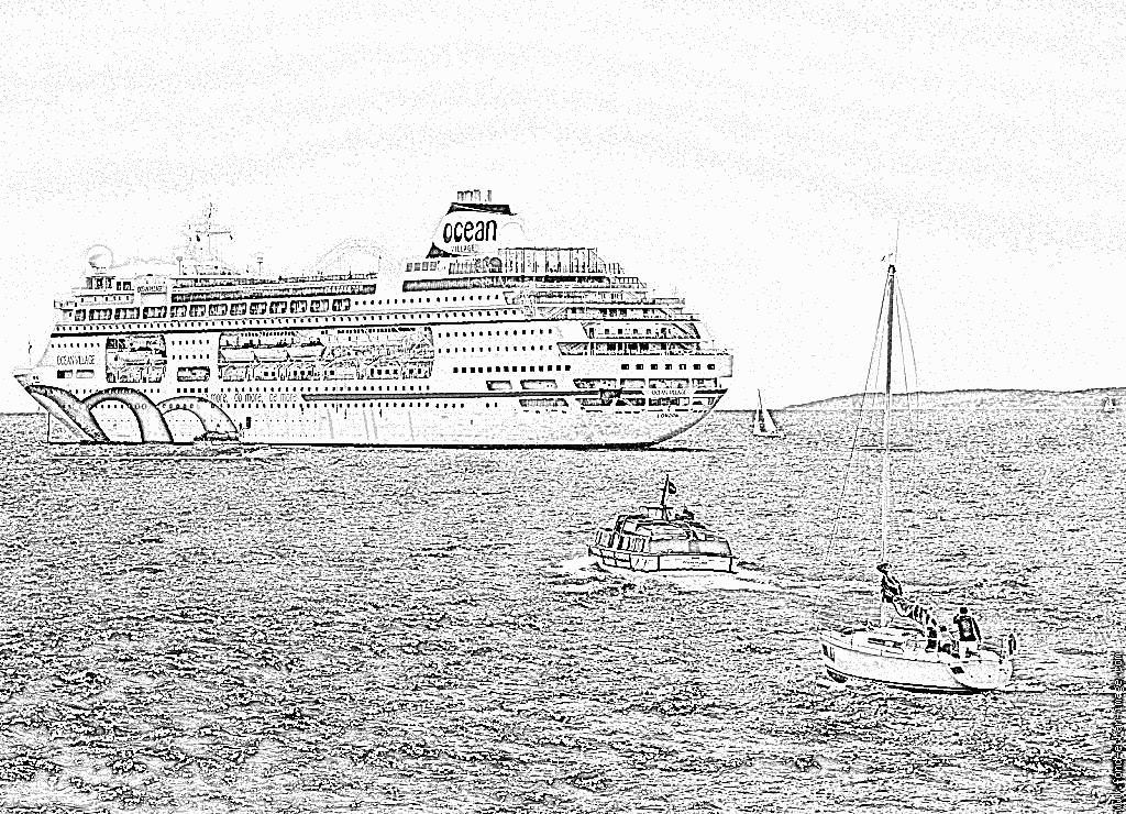 Coloriage bateau paquebot - Coloriage paquebot ...