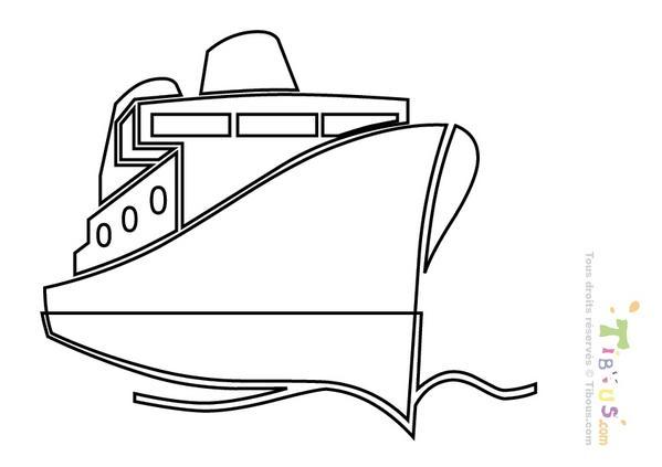 Dessin paquebot - Coloriage transport ...